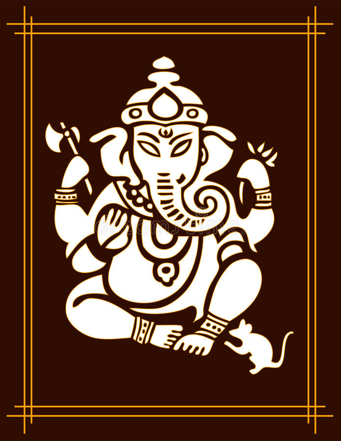 ganesha bóg royalty ilustracja