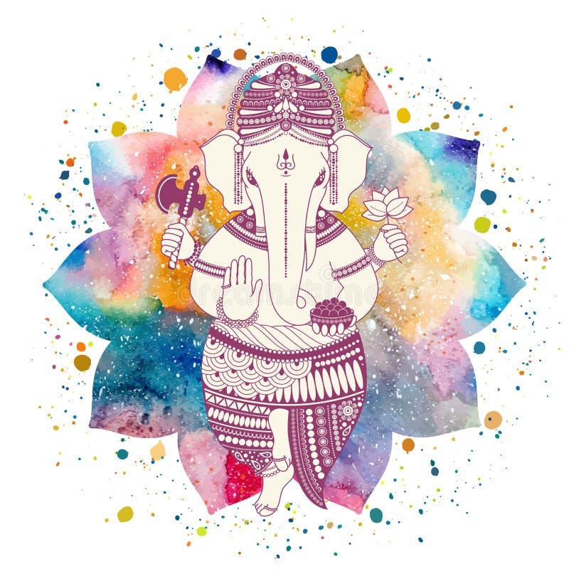 Ganesha bóg wektor ilustracji