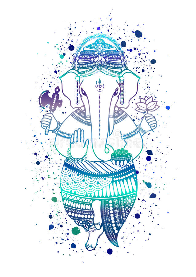 Ganesha bóg wektor ilustracja wektor