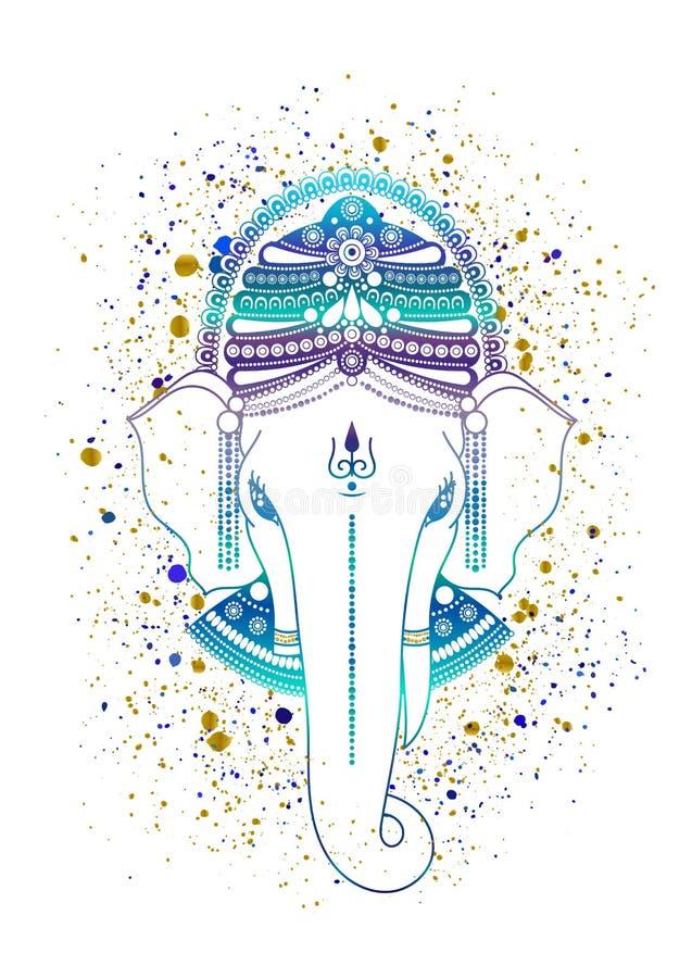 Ganesha bóg wektor royalty ilustracja