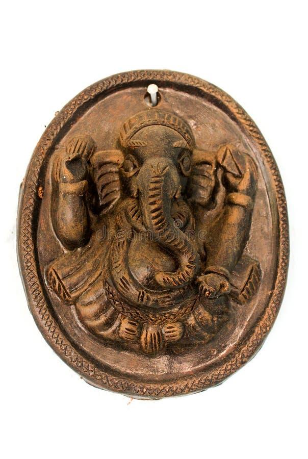 Ganesha, cerámica hindú antigua fotografía de archivo