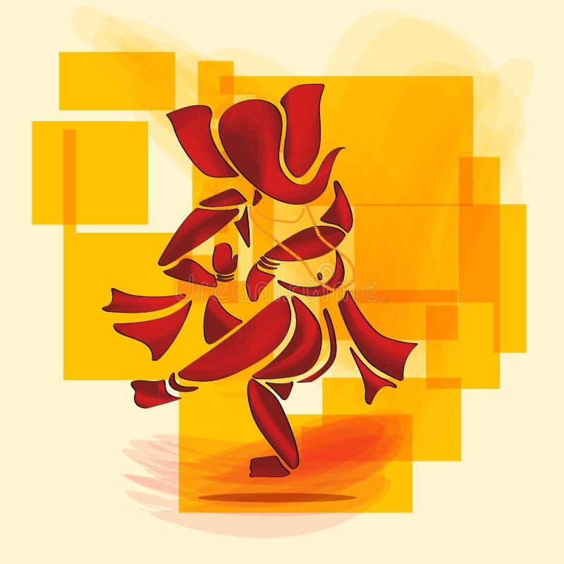 Ganesha dans stock illustrationer
