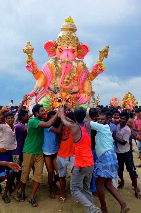 Download Ganesha Festival India editorial stock image