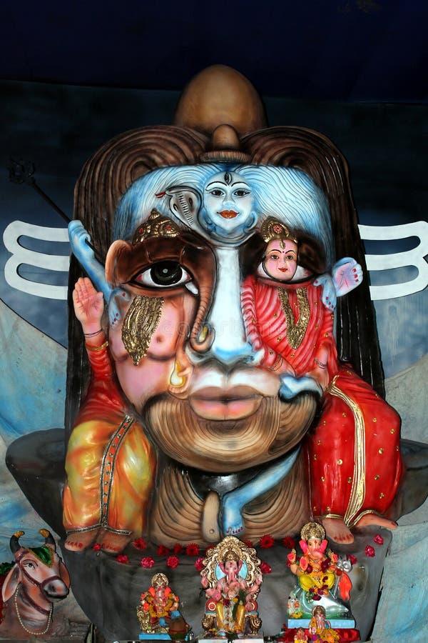Ganesha idol like Lord Shiva stock photography
