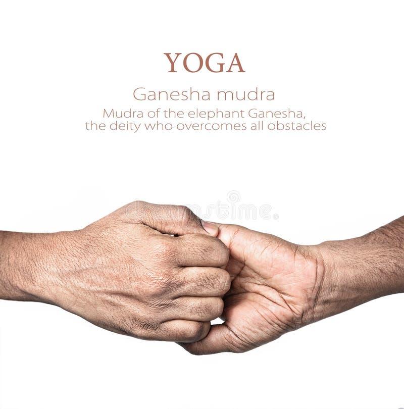 ganesha mudra瑜伽 免版税图库摄影