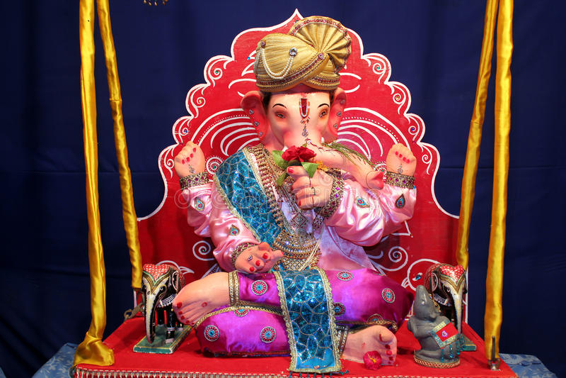 Ganesha - no balanço imagem de stock
