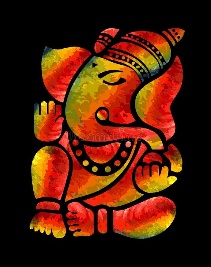 Ganesha obraz royalty ilustracja