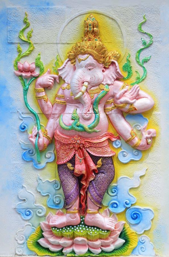 Ganesha obraz i rzeźba zdjęcia royalty free