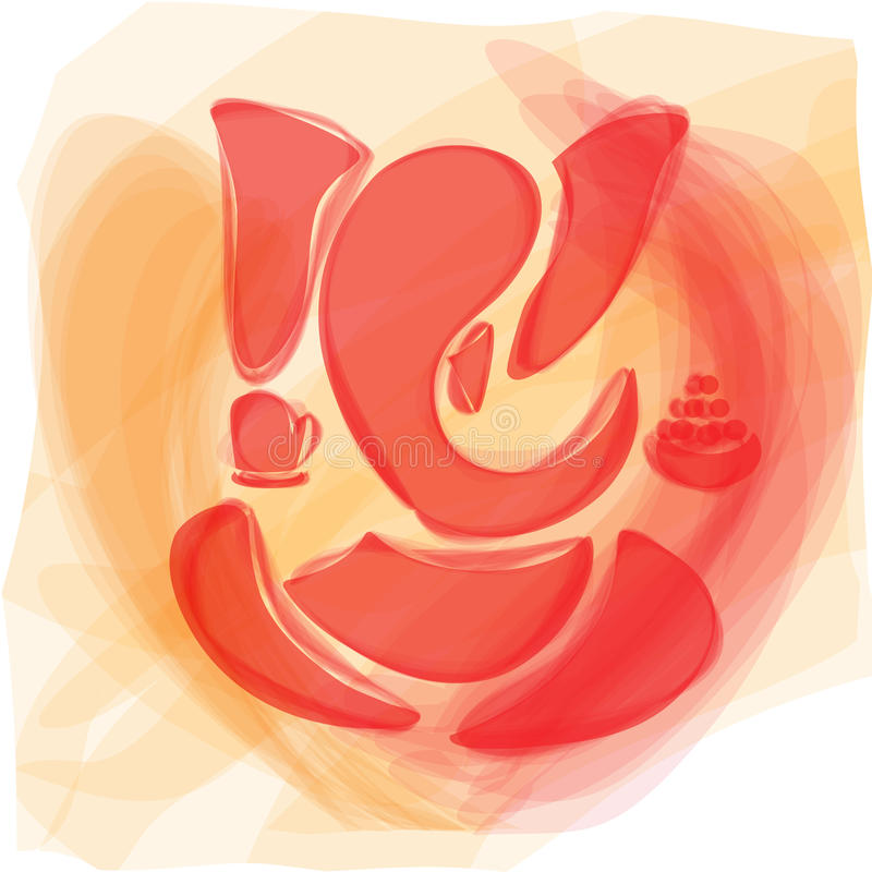 Ganesha ou Ganesh, Dieu indou illustration de vecteur