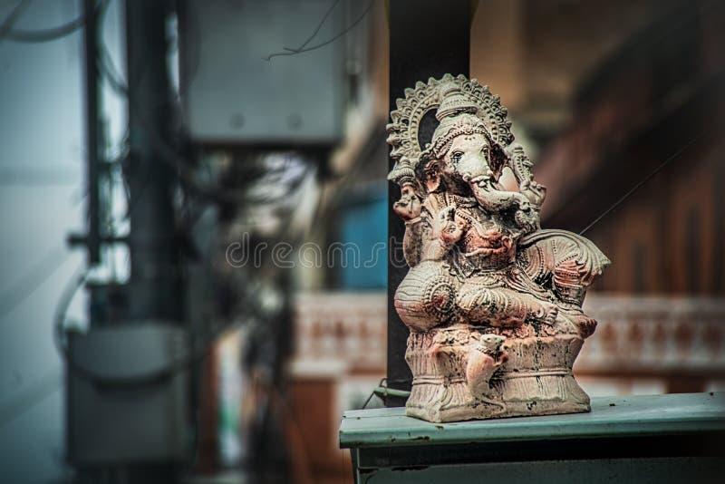 Ganesha on pink city  Road in Jaipur stock image