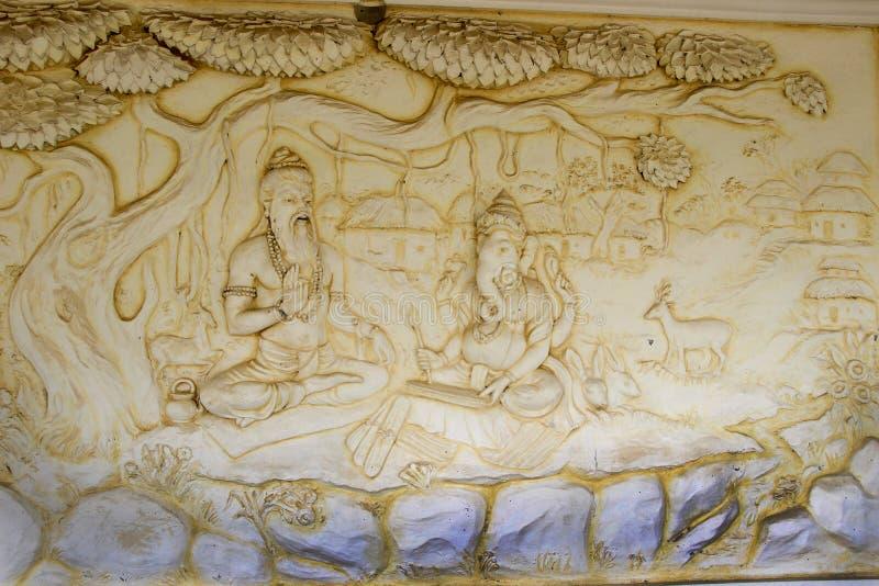 Ganesha Pisze scenariusz Mahabharata obrazy royalty free