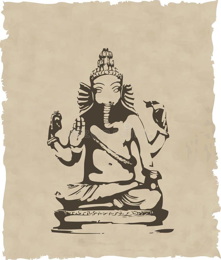 Download Ganesha statue stock vector. Illustration of decor, elephant - 9426258