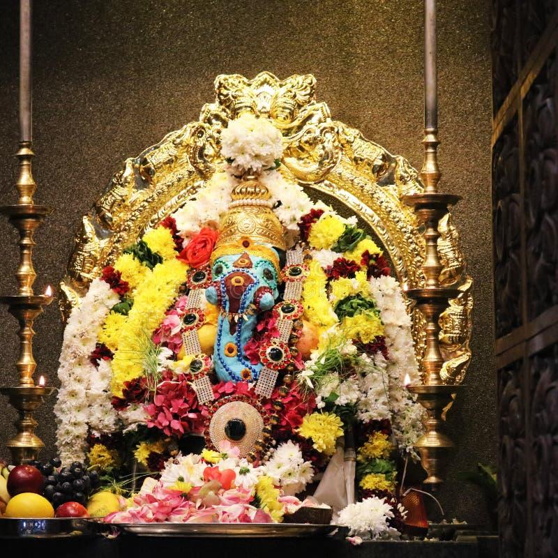 Ganesha temple hindu god stock image