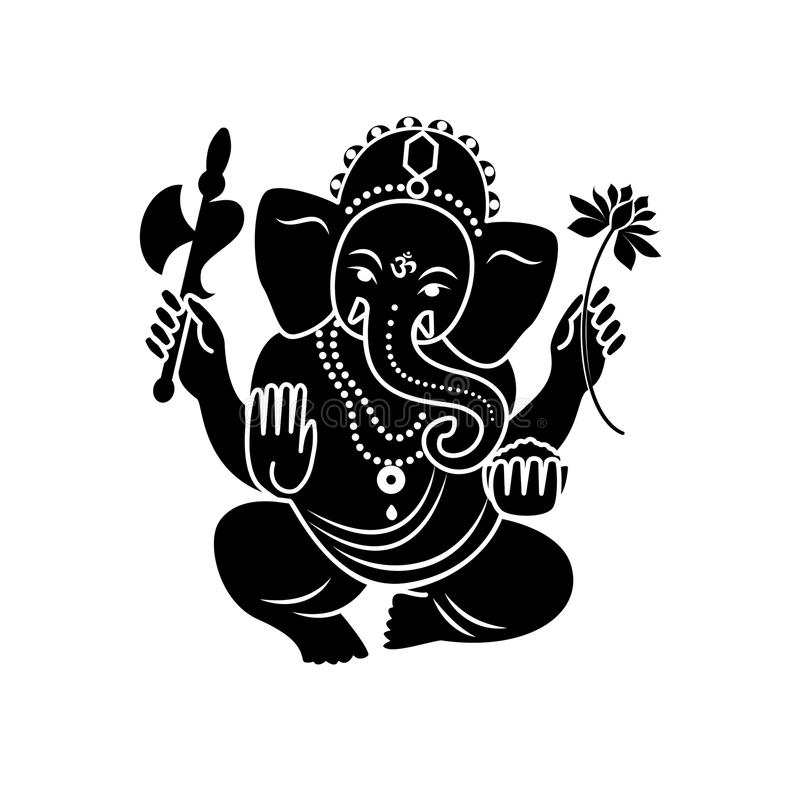 Ganesha van steen Vector illustratie vector illustratie