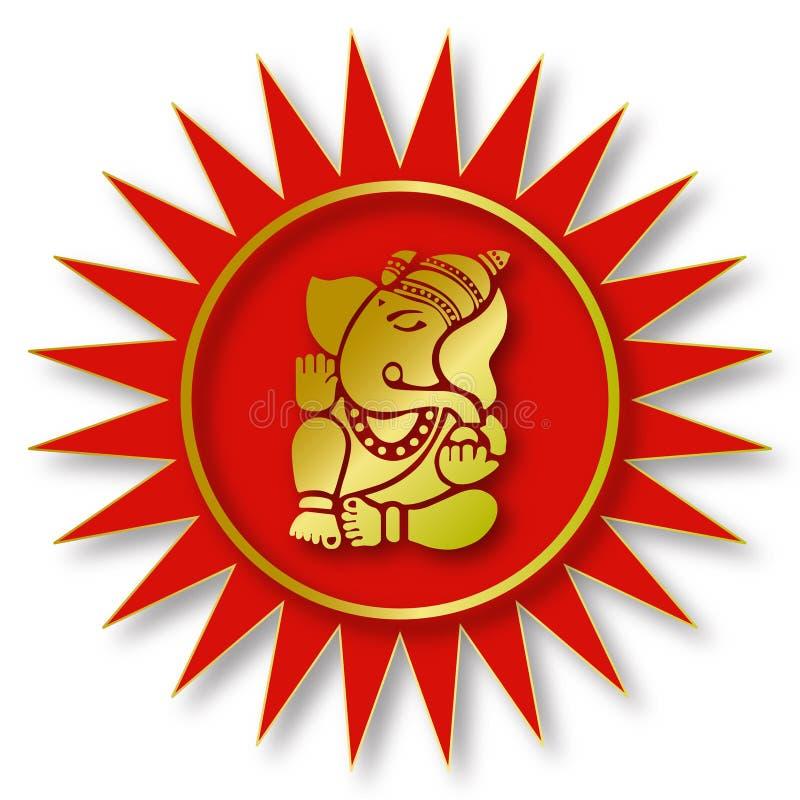 ganesha władyki znak royalty ilustracja