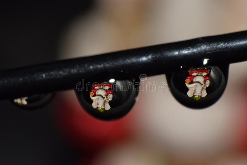 Ganesha in waterdruppeltjes stock foto's