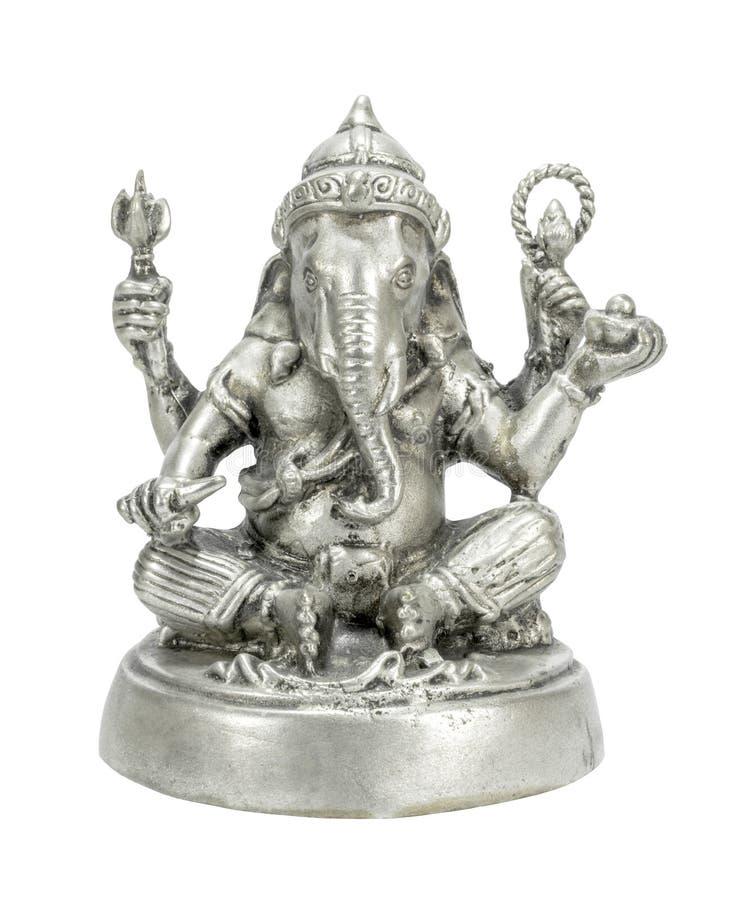 Ganesha zilveren kleur stock foto