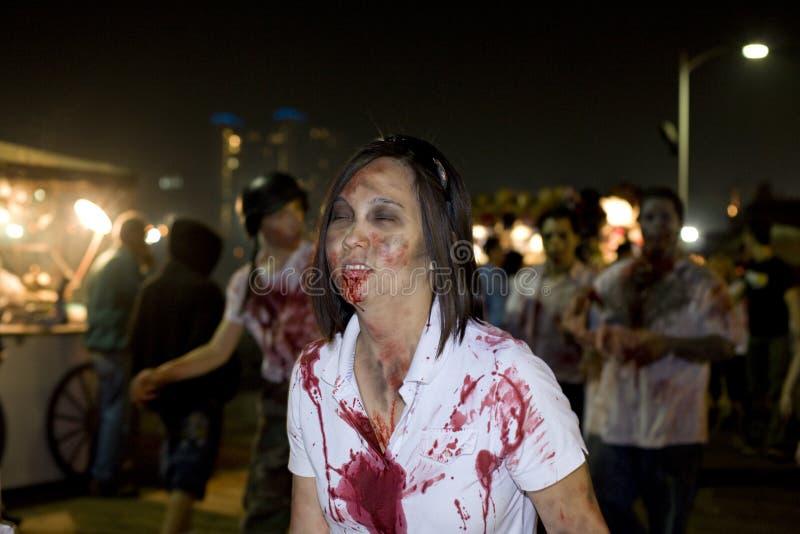 Gang 1 van de Zombie van La royalty-vrije stock afbeeldingen