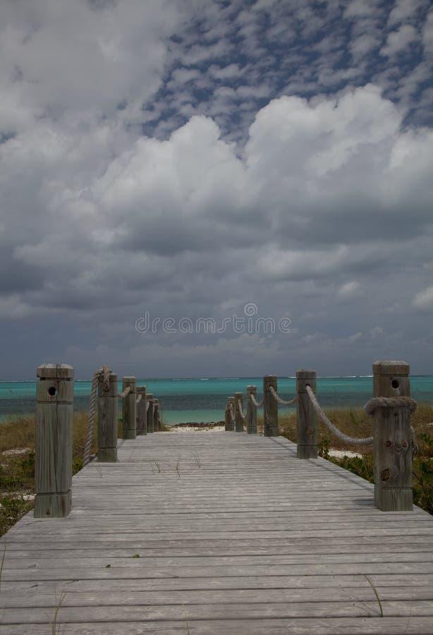 Gang aan het Strand van de Bocht, popcornwolken stock afbeeldingen