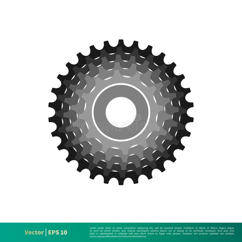 Gang-Fahrrad-Ikonen-Vektor Logo Template Illustration Design Vektor ENV 10 vektor abbildung