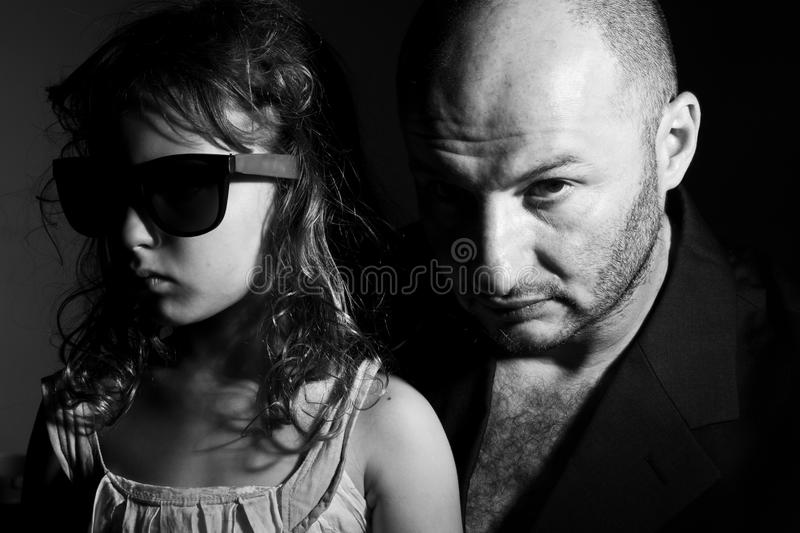 Gang family portrait royalty free stock photos