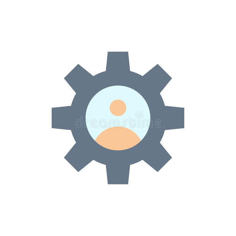 Gang, Kontrollen, Profil, Gebrauchs-flache Farbikone Vektorikonen-Fahne Schablone vektor abbildung