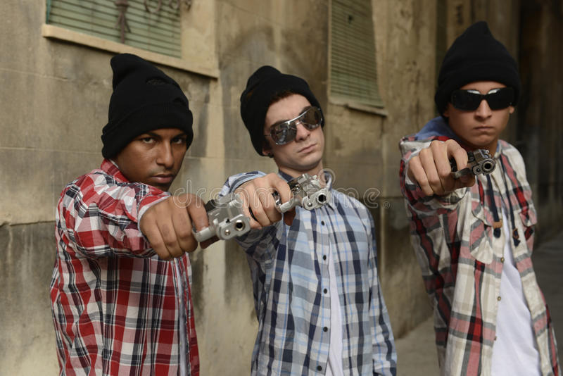 Download Gang Members With Guns On The Street Royalty Free Stock Photo - Image: 27639975