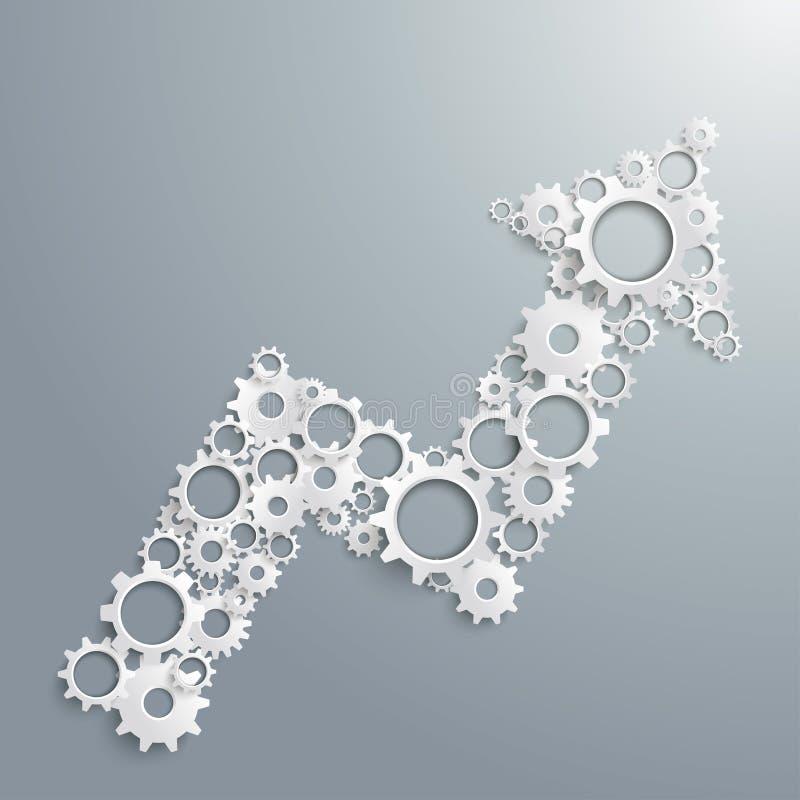Gang-Pfeil-Diagramm-Erfolg PiAd vektor abbildung