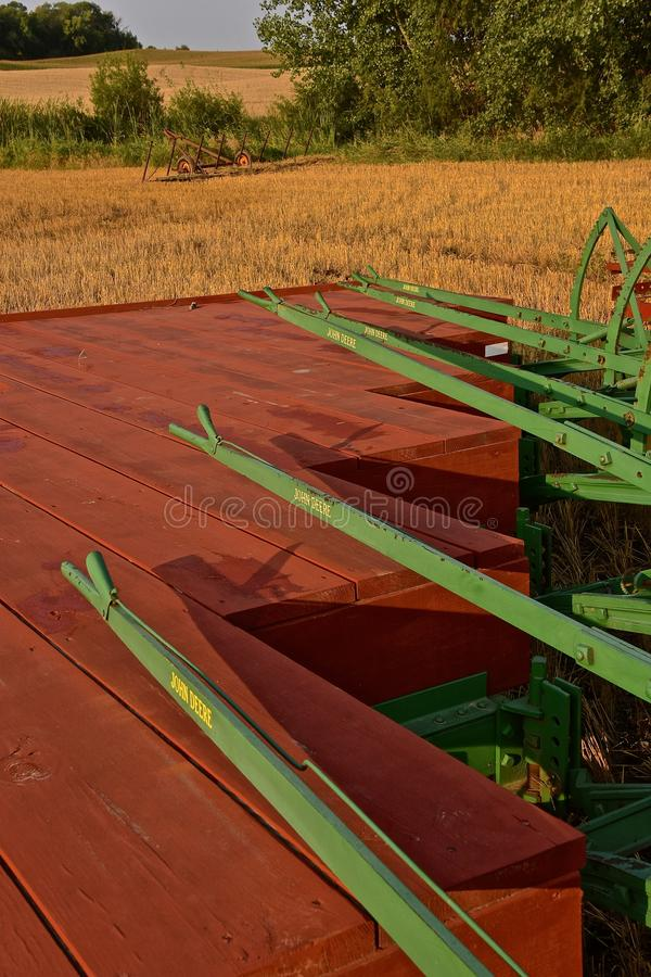 Gang plows ready for plowing royalty free stock photos