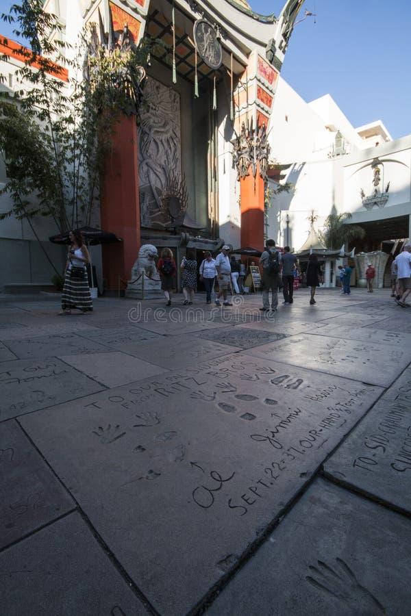 Gang van Bekendheid - Chinees Theater - Los Angeles royalty-vrije stock afbeelding