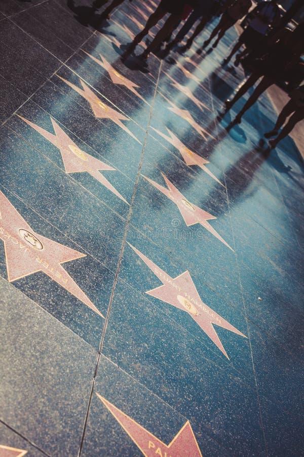 Gang van bekendheid in Hollywood royalty-vrije stock foto's