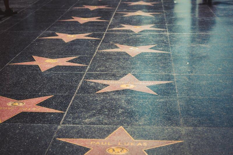 Gang van bekendheid in Hollywood stock afbeelding