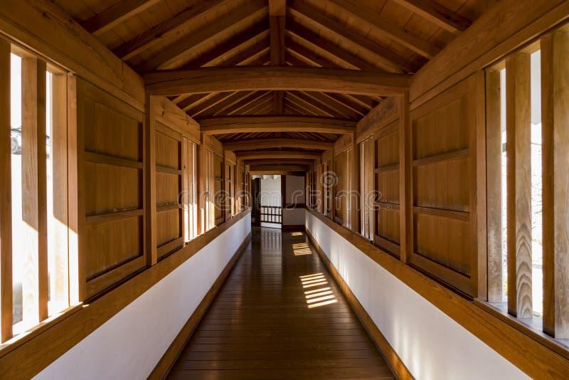 Gang van het Kasteel van Himeji royalty-vrije stock foto