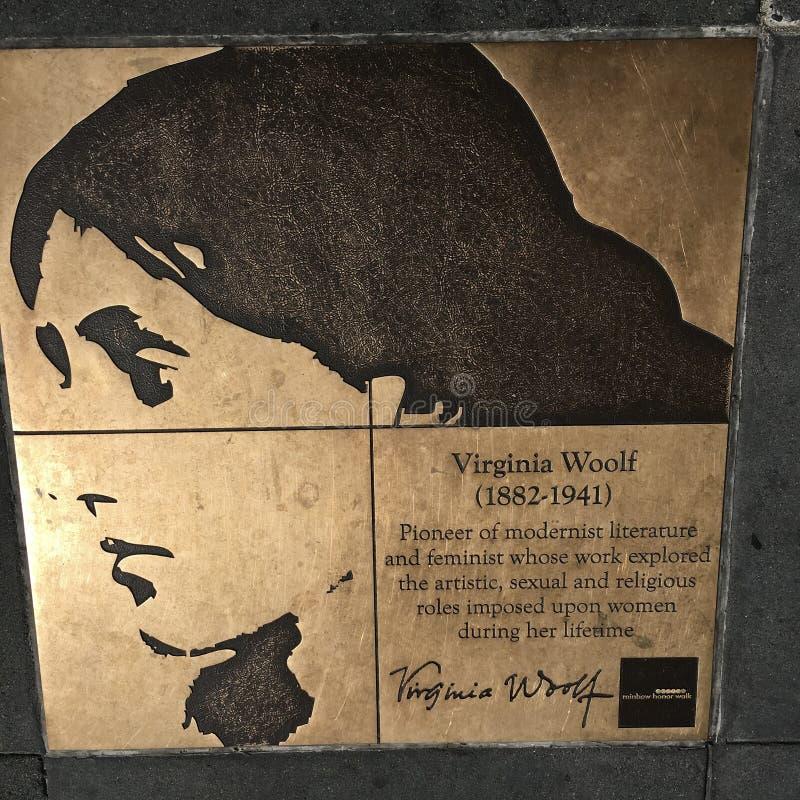 Gang van Homosexueel, de Gang van de Regenboogeer, Virginia Woolf stock foto