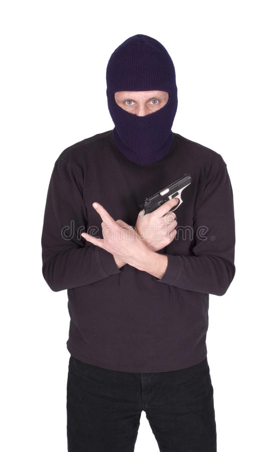 Download Gang Violence Man Crook Gun Isolated Stock Photo - Image: 23213648