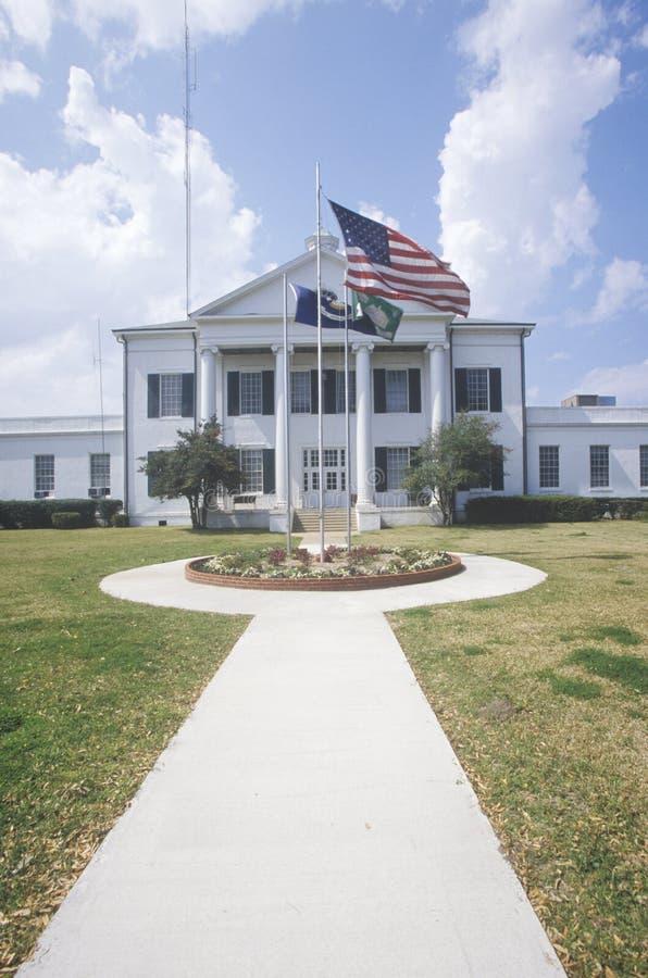 Gang voor Stadhuis in Meervoorzienigheid, Louisiane stock fotografie