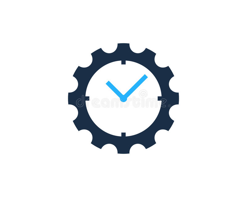 Gang-Werkzeug-Zeit-Ikone Logo Design Element lizenzfreie abbildung