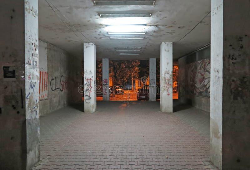 Gang z graffiti w okolicy zdjęcie royalty free