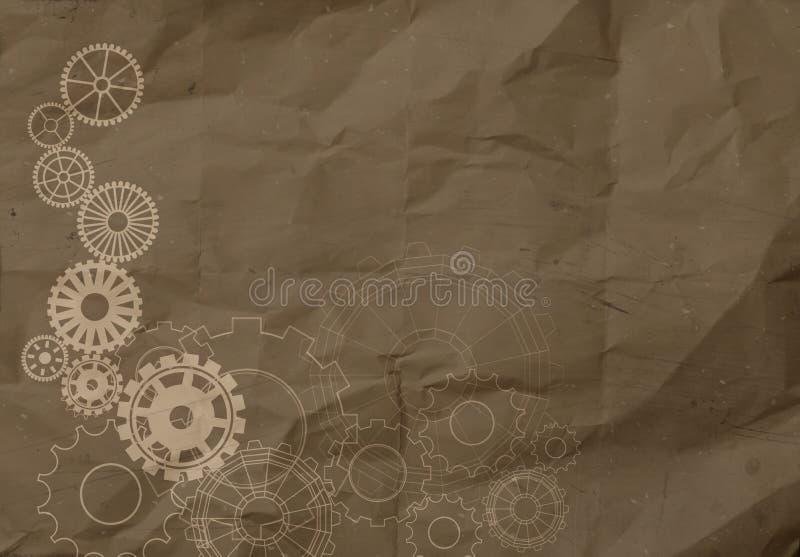 Gang zum Erfolgskonzept auf zerknittert bereiten Papierhintergrund auf vektor abbildung