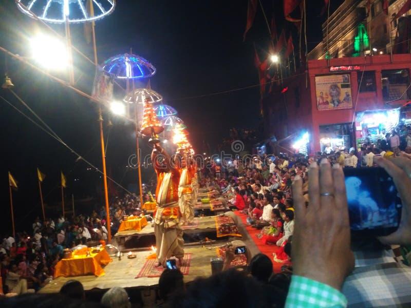 Ganga Aarti obraz royalty free