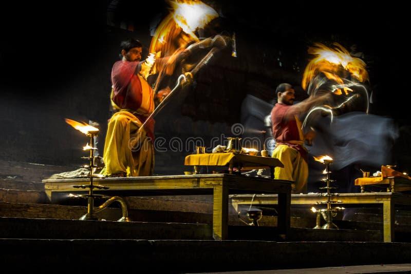 Ganga Arati fotografia stock