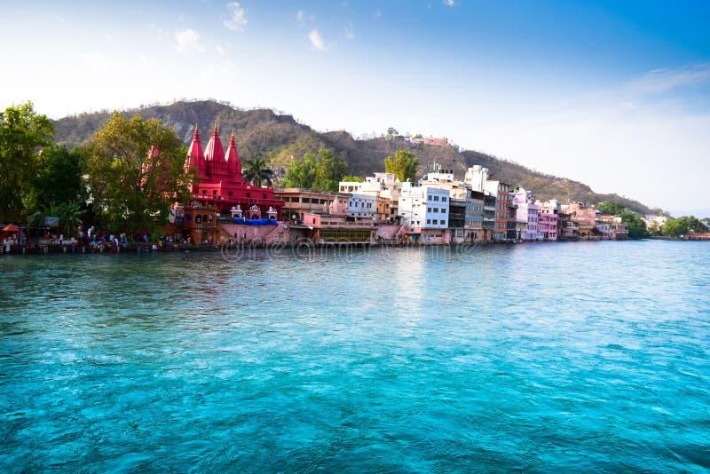 Ganga boska rzeka India zdjęcie royalty free