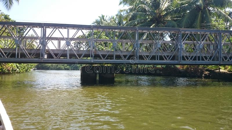 Ganga de Madu y x28; river& x29 del madu; - visión desde el barco fotos de archivo libres de regalías