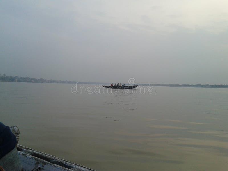 ganga at its best at varanasi ghat royalty free stock photo