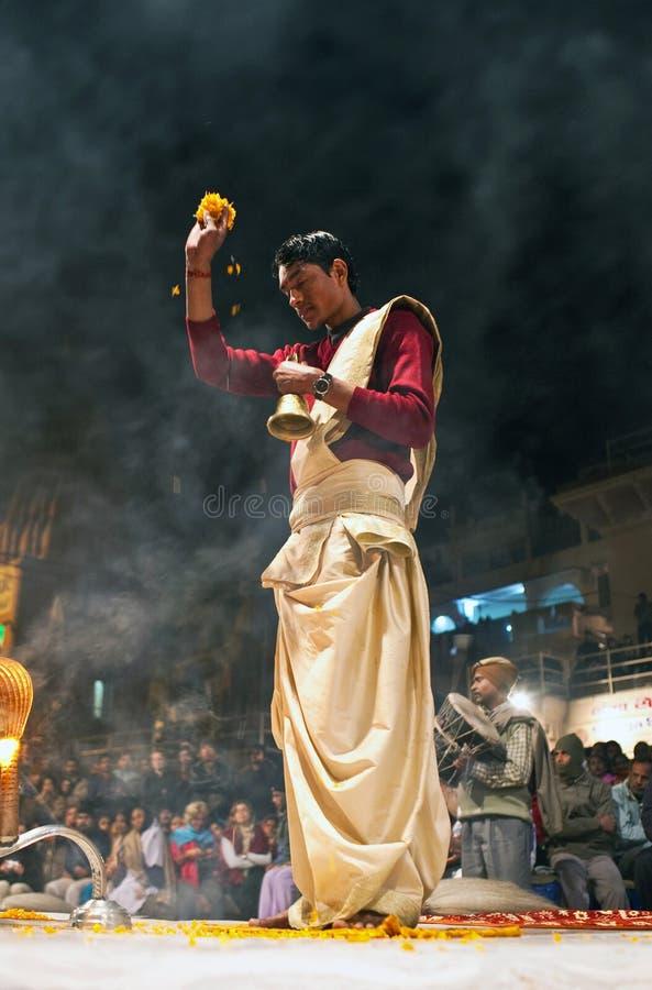 Download Ganga Maha Aarti ceremony editorial photo. Image of ganga - 19693941