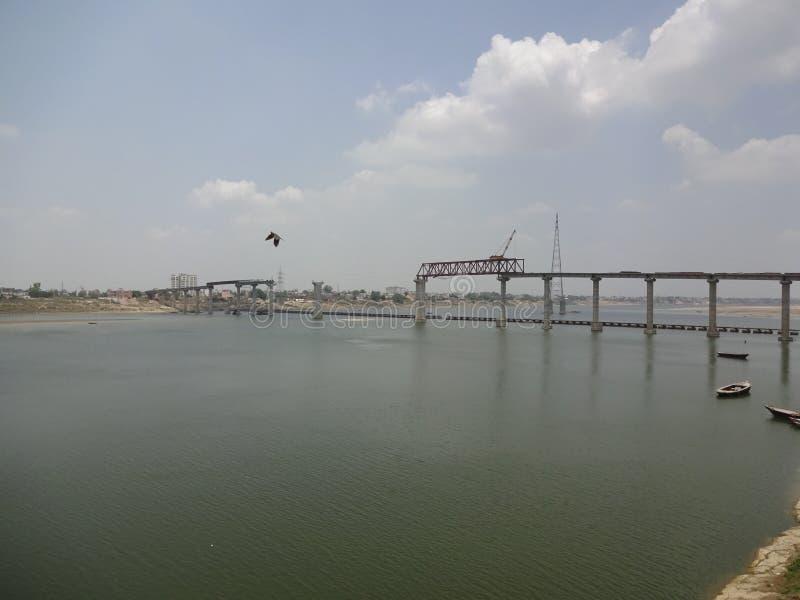 Ganga River. In Varanasi, INDIA stock photography