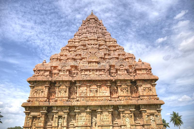 Gangai Konda Chozhapuram. Raja rajaraja chozan architechture big temple HDR stock image