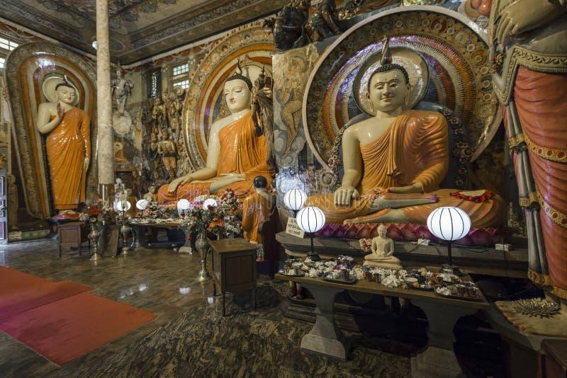 Gangaramaya寺庙在科伦坡,斯里兰卡 库存图片