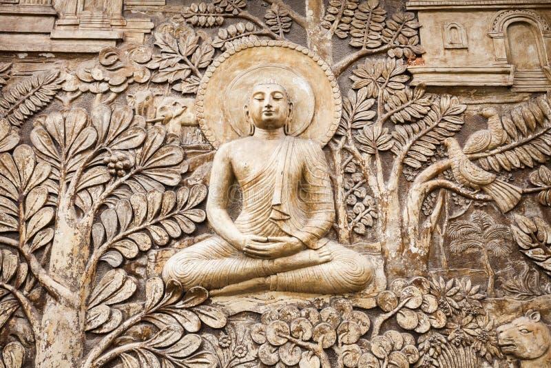 Gangaramaya寺庙在科伦坡 免版税库存图片