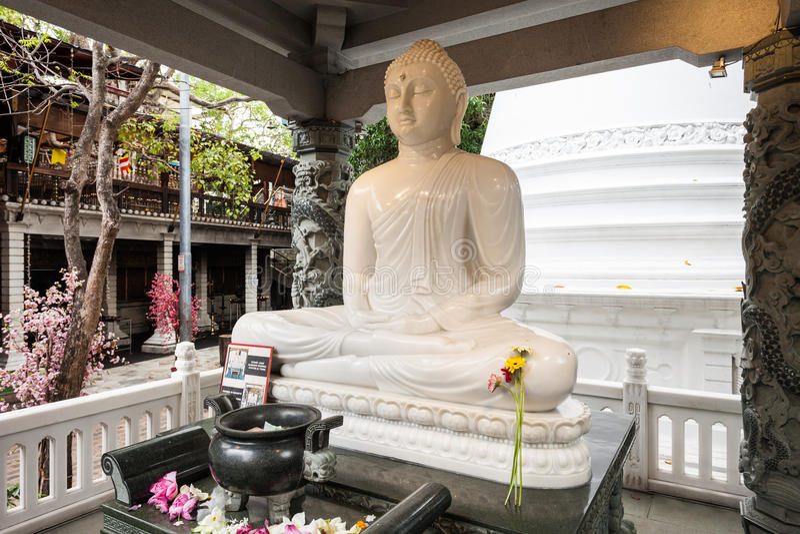 Gangaramaya寺庙在科伦坡 免版税图库摄影